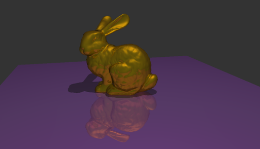 Stanford Bunny (69k triangles), Hall Reflection model